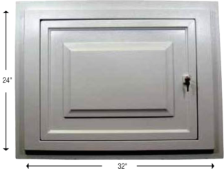 Access panel door flange mount Style Crest