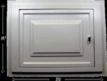 Access panel door flange mount Style Crest