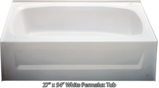 Bathtub 27 x 54 White Permalux  Tub Right Hand Drain