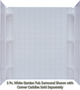 3 Piece ABS Surround White  For 40x54 & 40x60 Garden Tub