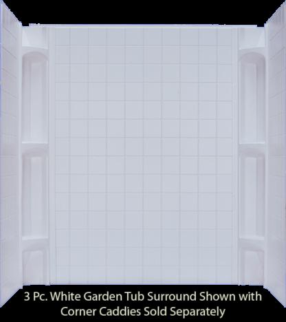 3 Piece ABS Surround White  For 40x54 & 40x60 Garden Tub