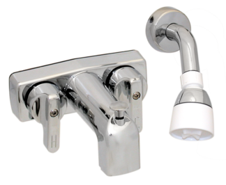 Bath tub & shower - long spout  - Chrome - 3-3/8 inch