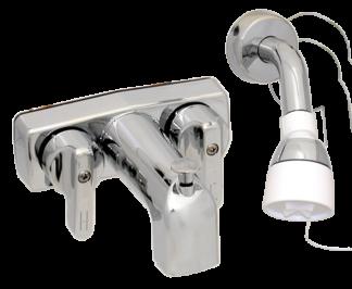 Bath tub & shower - long spout  - Chrome - 3-3/8 inch