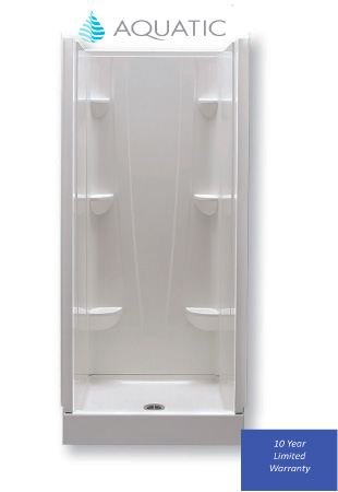 "Fiberglass Shower Pan 32"" x 32"" White"