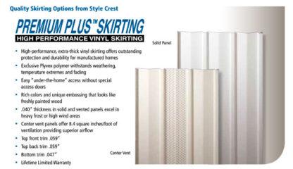 "Pre-cut 35"" Grey Premium Solid Skirting Panels 12/ctn."