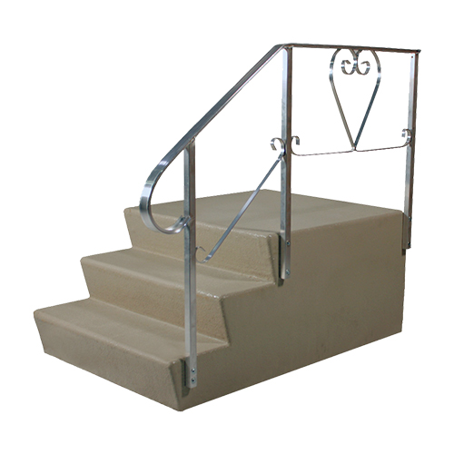 21H X 36W X 24D Fibergl Step With Platform - Mobile Home Parts Pro Steps Mobile Home Stair Rail on hotel stair rails, cottage stair rails, industrial stair rails, cabin stair rails, chalet stair rails, farmhouse stair rails, contemporary stair rails, flat stair rails, house stair rails, split foyer stair rails, rv stair rails, commercial stair rails, bungalow stair rails, log home stair rails, residential stair rails, patio stair rails,