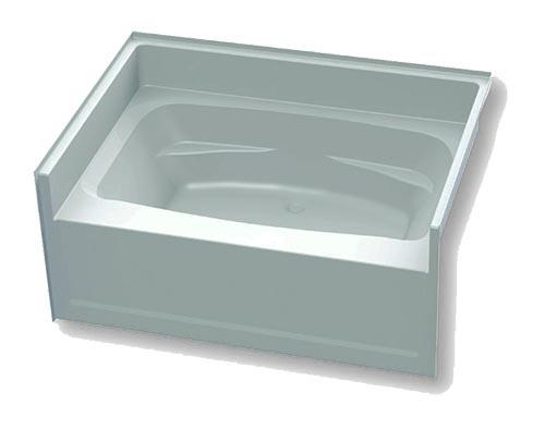 40 x 54 x 23 white fiberglass garden tub for Fiberglass garden tubs